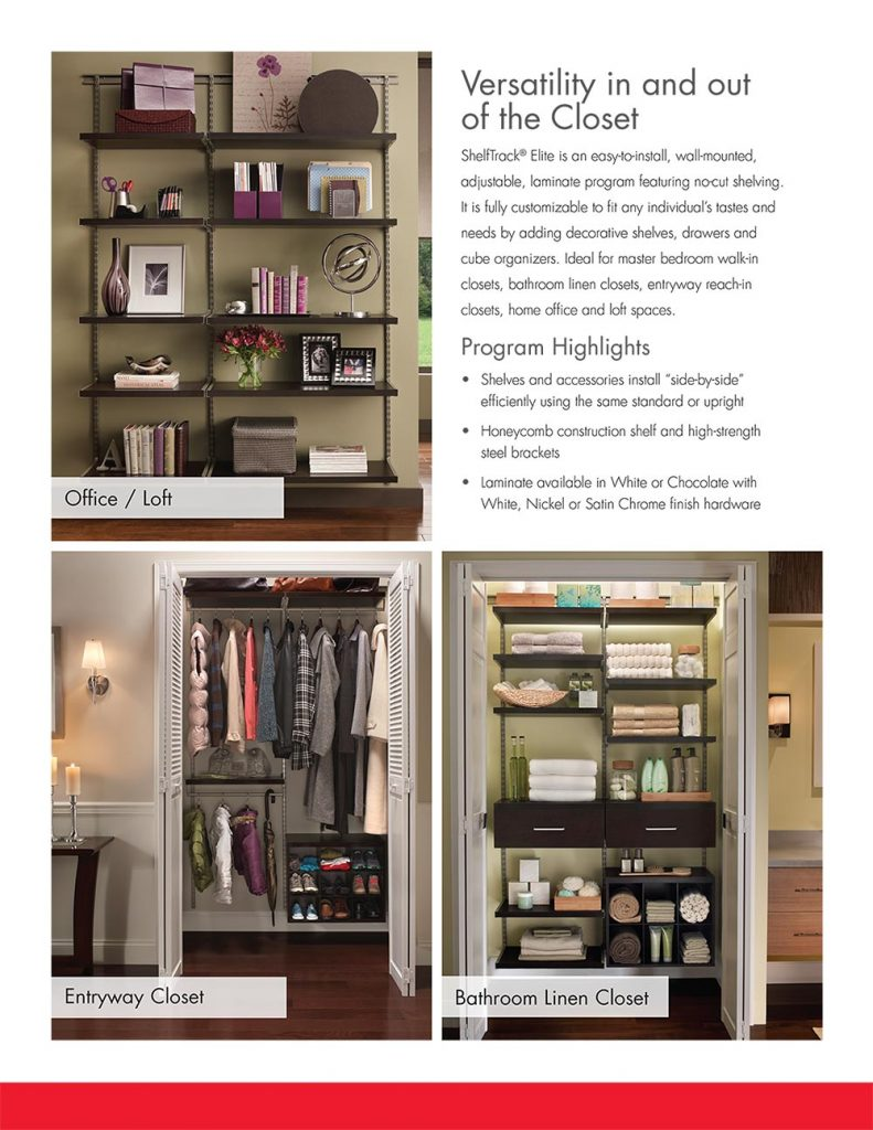 Charmant ... A Wall Mounted, Adjustable, Laminate Closet System That Features No Cut  Shelving. We Can Fully Customize And Install It To Fit Any Closet In Your  Home.